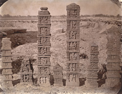 Sculptured pillars from Baijnath. 1003438